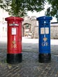 Red and Blue Post Boxes, Windsor