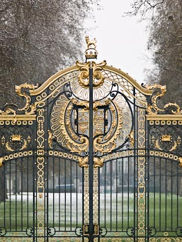 Gates at Buckingham Palace, London
