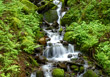 Waterfall, Columbia Gorge Area of Oregon State, USA