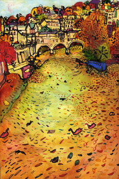 Pulteney Bridge, Bath - autumn