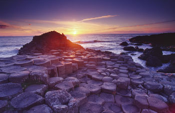 Midsummer's Day Sunset at Giant's Causeway