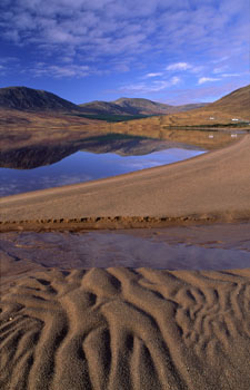 Sand patterns on the shores of Lough Feagh, Co. Mayo