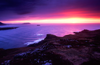 Sunset near Malin Head, Co. Donegal, Ireland