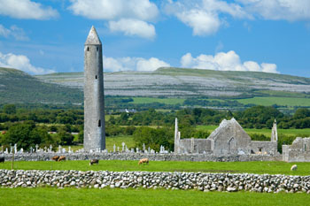 Kilmacduagh Churches and Round Tower, Co. Galway