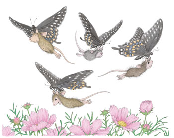 Flying Mice with Butterflies