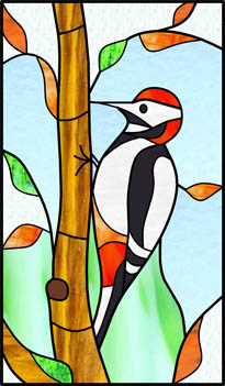 Woodpecker Stained Glass Blinds Creatively Different