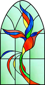 Phoenix - Stained Glass