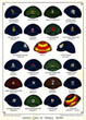 Cricket Caps of Famous Teams