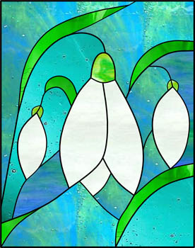 Snowdrop - Stained Glass