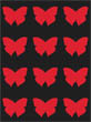 Red/Black Butterfly Wallpaper