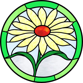 Daisy - Stained Glass