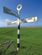 Signpost in Burgh Marsh, Cumbria