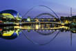 Gateshead Millenium Bridge at night, Tyne and Wear