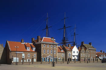 Masts over Houses, Hartlepool Marina, Tees Valley