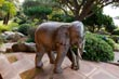 Elephant Statue in Private Garden in Corsica