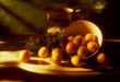 Still Life of Apricots in Sunlight