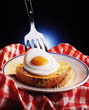 Still Life of Fried Egg on Toast