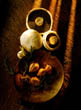 Still Life of Mushrooms and Shallots
