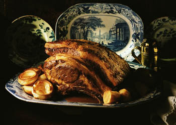 Still Life of Roast Rib of Beef
