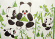 Panda Painting by Young Girl