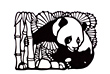 Panda and Bamboo Papercut made in China