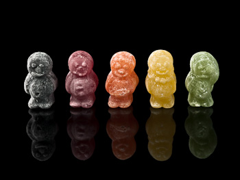 Row Of Jelly Babies Blinds Creatively Different
