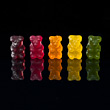 Row of Wine Gum Teddies