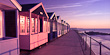 Pink and Purple Beach Huts