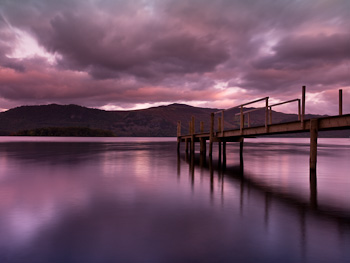 Lake District View - Pink Hue