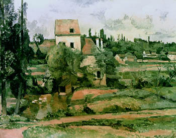 Moulin de la Couleuvre at Pontoise, Paul Cezanne, 1881