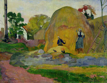 Yellow Haystacks, or Golden Harvest, Paul Gauguin, 1889