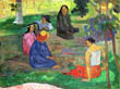 Les Parau Parau (The Gossipers), or Conversation, Paul Gauguin, 1891