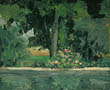 The Lake at Jas de Bouffan, Paul Cezanne, c. 1873-76