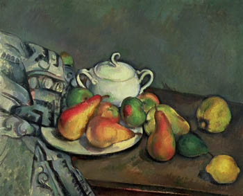 Still Life with Sugar Basin and Fruit, Paul Cezanne