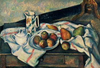 Still Life of Peaches and Pears, Paul Cezanne, 1888-90