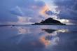 Stormy Skies above St Michael's Mount reflected in Wet Sand