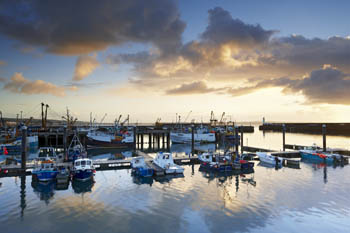 Dramatic Rain Clouds at Dawn, Newlyn, Cornwall