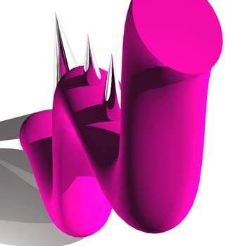 Composition in Pink III