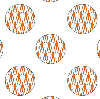 Paperchain Polka - Orange