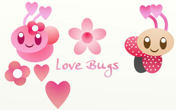 Love Bugs Wall Decals
