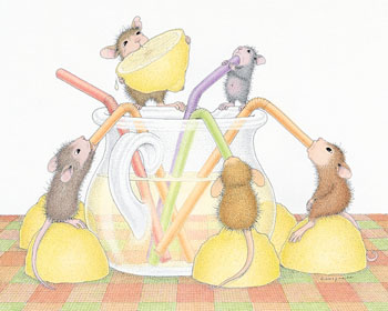 Mice sipping Lemonade