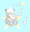 Popcorn the Bear on a Star with Souffle