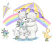 Popcorn the Bear and Friends with Rainbow