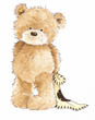 Popcorn the Bear with Comfort Blanket - standing