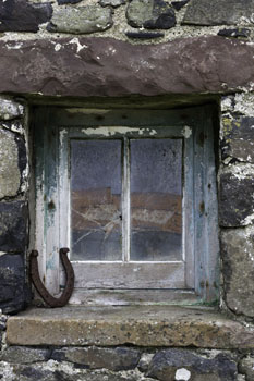 Stable Window, Isle of Muck, Hebrides, Scotland