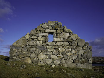 Derelict Croft Gable, South Uist, Outer Hebrides, Western Isles, Scotland