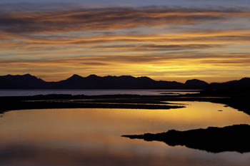Coulin Forest across Inner Sound, Ob Breakish, Isle of Skye, Scotland