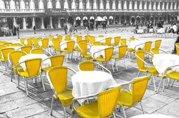 Yellow in St Mark's Square, Venice