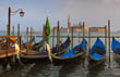 Venetian Gondolas by Jetty