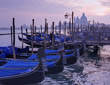Gondolas in Venice - evening